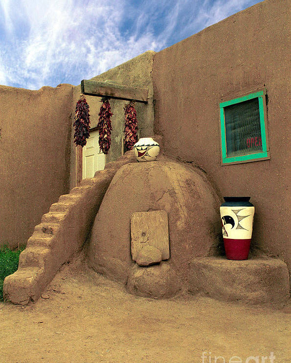 Pueblo Poster featuring the photograph Taos Oven by Jerry McElroy