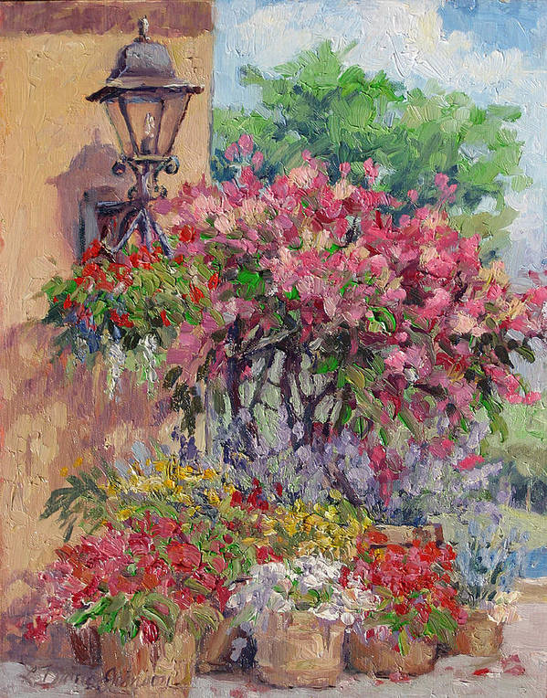 Flowering Trees Poster featuring the painting Taste Of Italy by L Diane Johnson