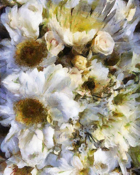 Flowers Poster featuring the painting Tattered Bouquet by RC DeWinter