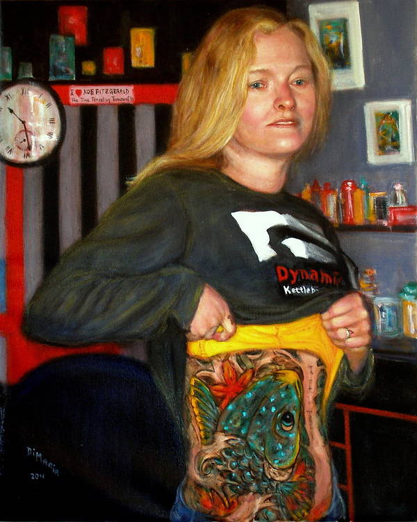 Realism Poster featuring the painting Tattoo 2 by Donelli DiMaria
