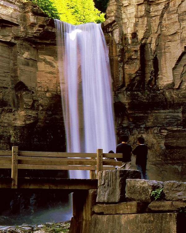 Waterfall Poster featuring the photograph Taughannock Falls by Roger Soule