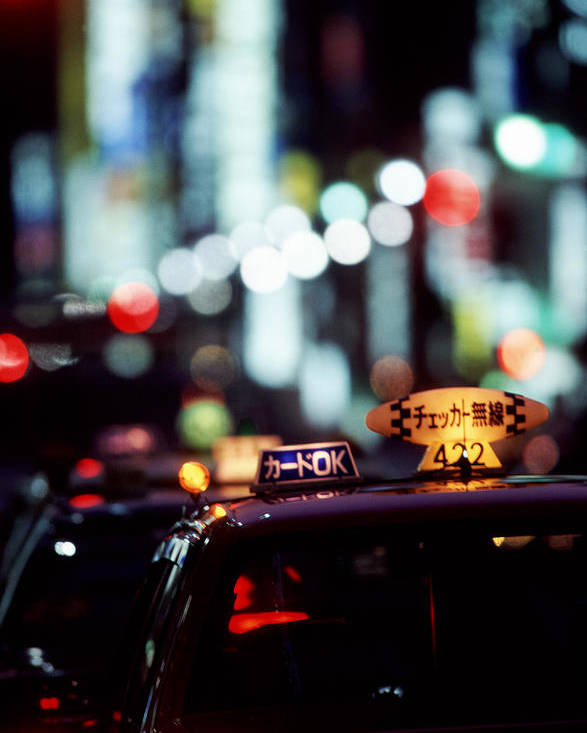 Taxi Poster featuring the photograph Taxis On The Ginza by Brad Rickerby