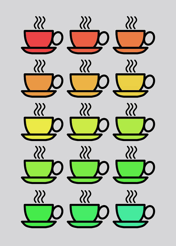 Tea Kettle Poster featuring the photograph Tea Cups by Mark Rogan