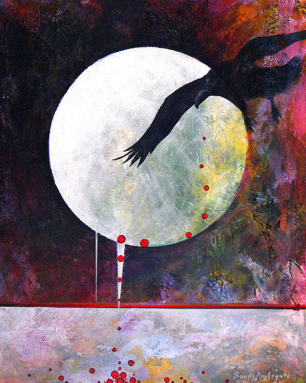 Raven Poster featuring the painting Tears For Fears by Sandy Applegate