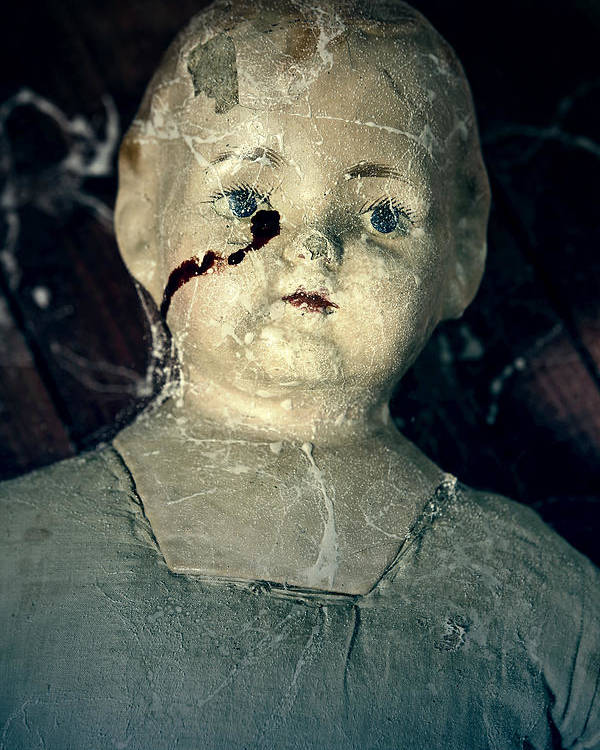 Doll Poster featuring the photograph Tears Of Blood by Joana Kruse