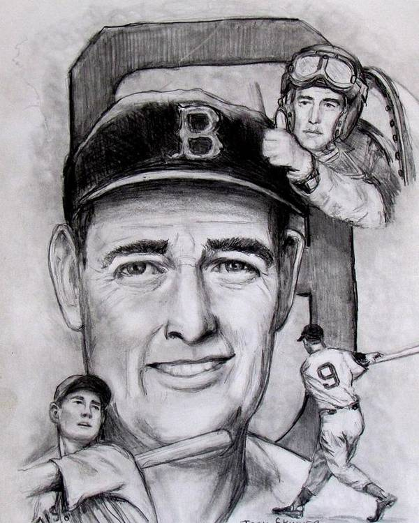 Baseball Poster featuring the photograph Ted by Jack Skinner
