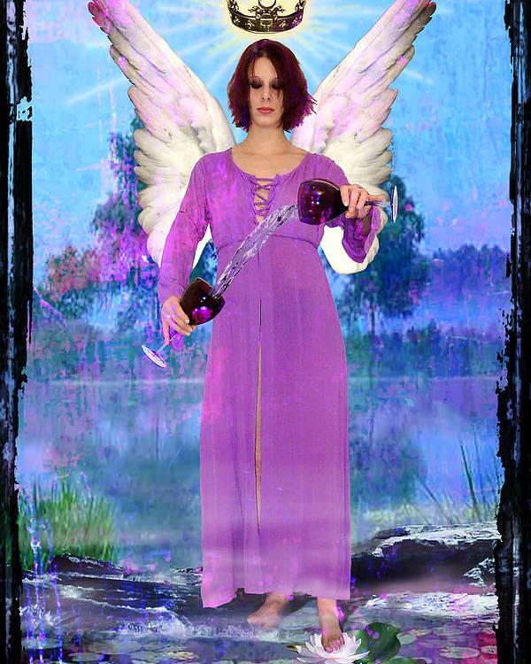 Divine Poster featuring the digital art Temperance by Tammy Wetzel