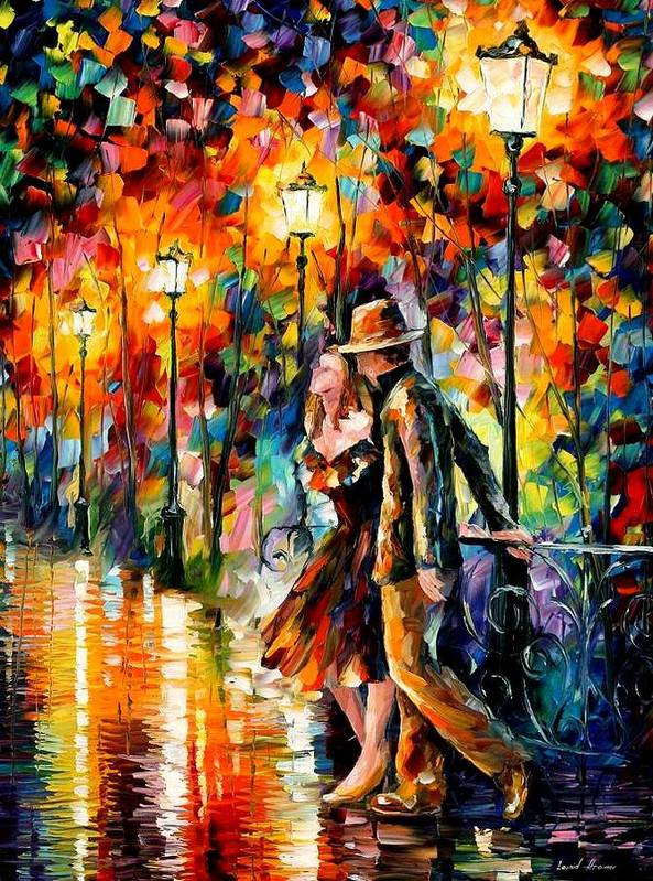 Scenery Poster featuring the painting Tempter by Leonid Afremov