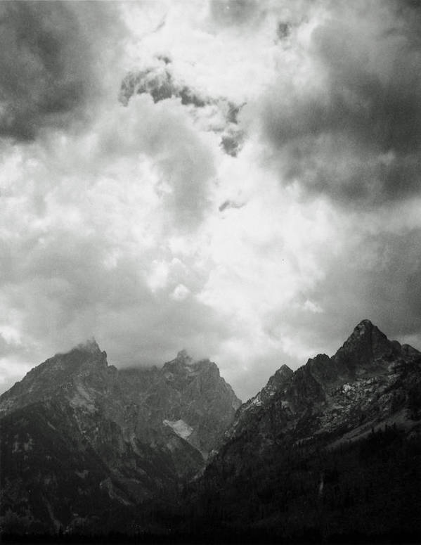 Landscape Poster featuring the photograph Teton Sky by Allan McConnell