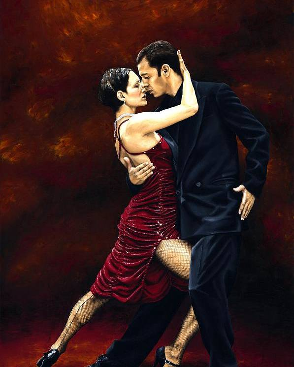Tango Poster featuring the painting That Tango Moment by Richard Young