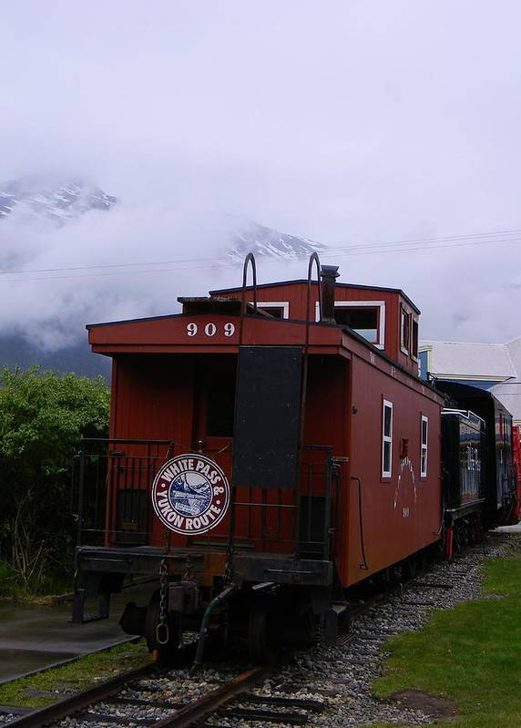 White Pass Engine Poster featuring the photograph The 909 Caboose by Warren Thompson