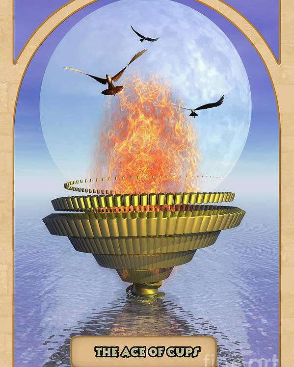 Magic Poster featuring the digital art The Ace Of Cups by John Edwards