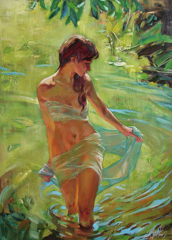 Ignatenko Poster featuring the painting The allegory of summer by Sergey Ignatenko