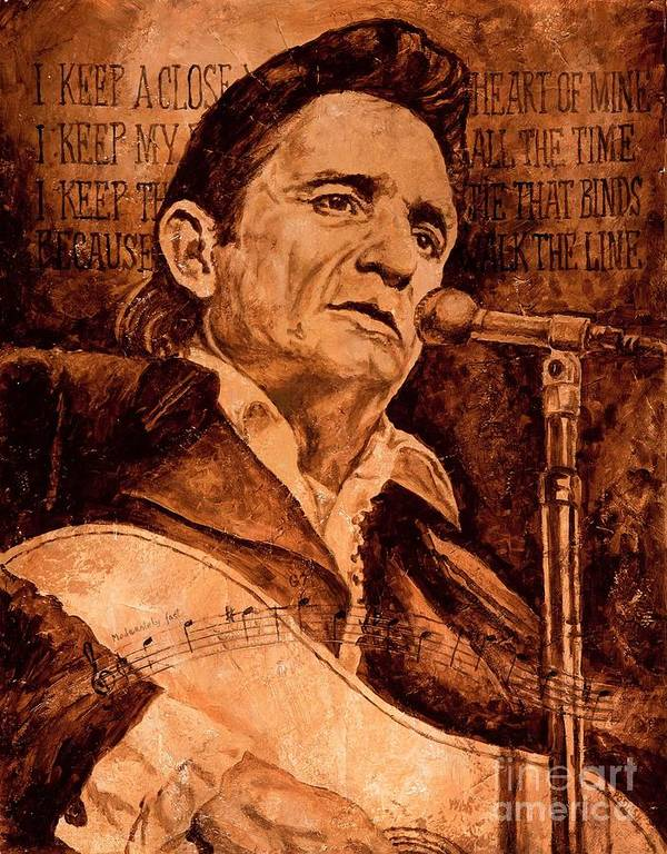 Johnny Cash Poster featuring the painting The American Legend by Igor Postash