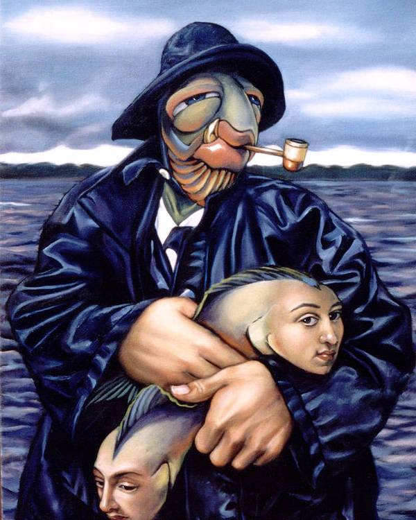 Fisherman Poster featuring the painting The Ancient Mariner by Patrick Anthony Pierson
