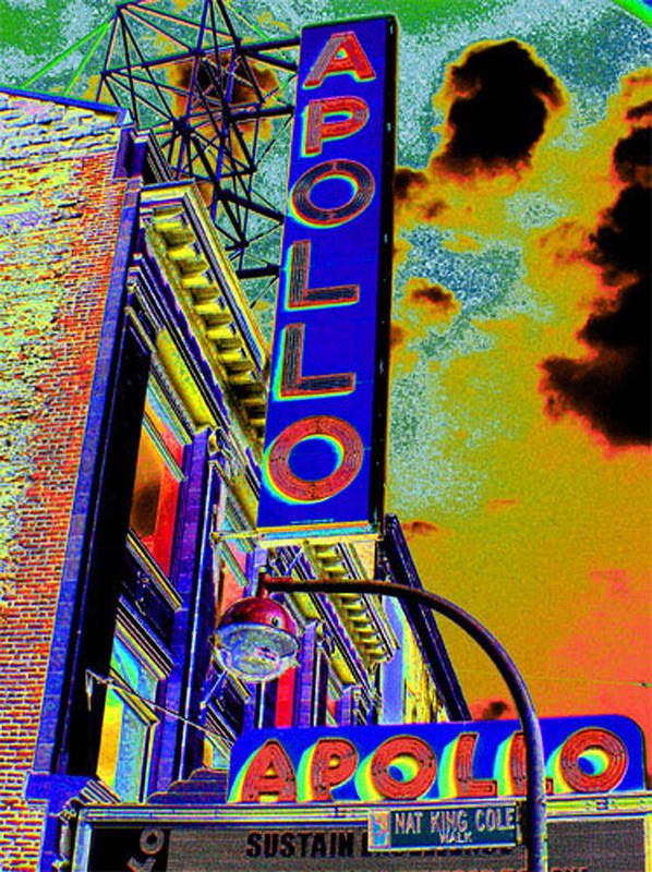 Harlem Poster featuring the photograph The Apollo by Steven Huszar