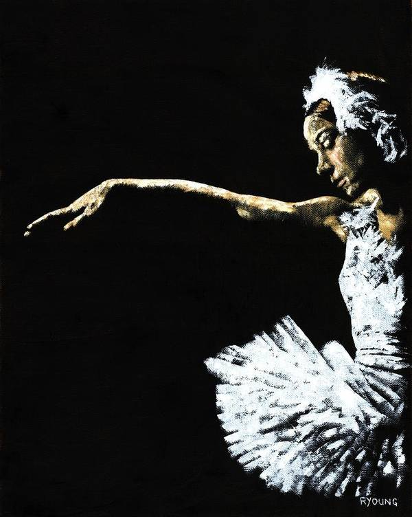 Ballet Poster featuring the painting The Art Of Grace by Richard Young