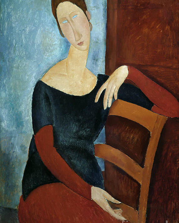 The Poster featuring the painting The Artist's Wife by Amedeo Modigliani