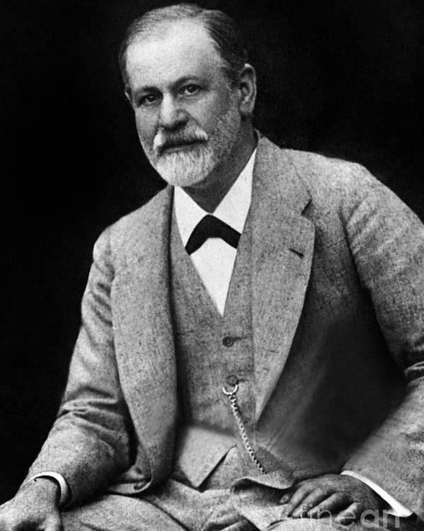 The Austrian Psychoanalyst Sigmund Freud Circa 1917 Poster