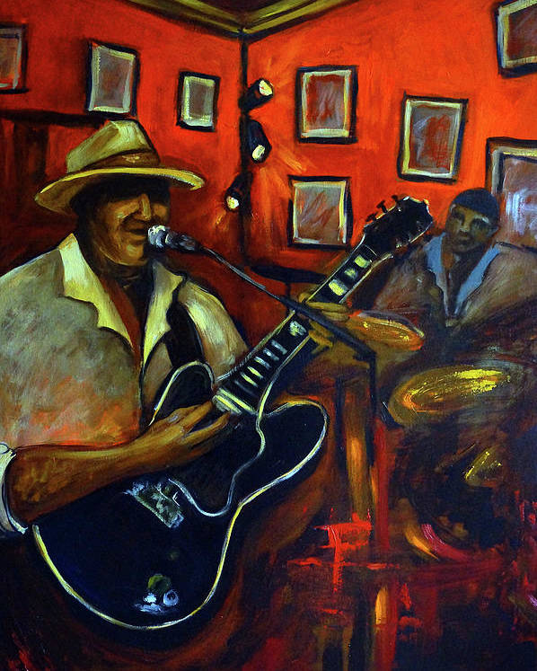 Blues Poster featuring the painting The Back Room by Valerie Vescovi