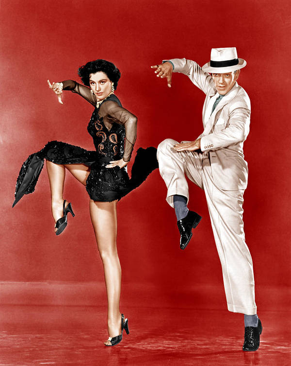 1950s Movies Poster featuring the photograph The Band Wagon, From Left Cyd Charisse by Everett