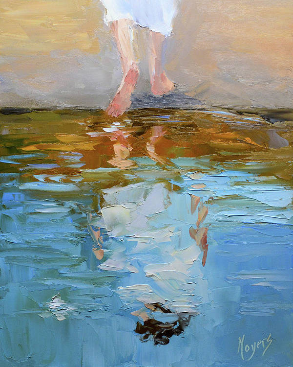 Baptism Poster featuring the painting The Baptism of Jesus by Mike Moyers