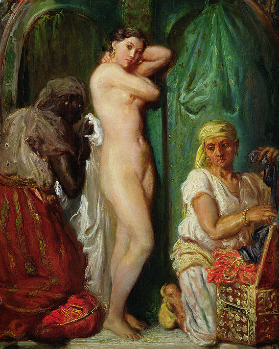 The Poster featuring the painting The Bath In The Harem by Theodore Chasseriau