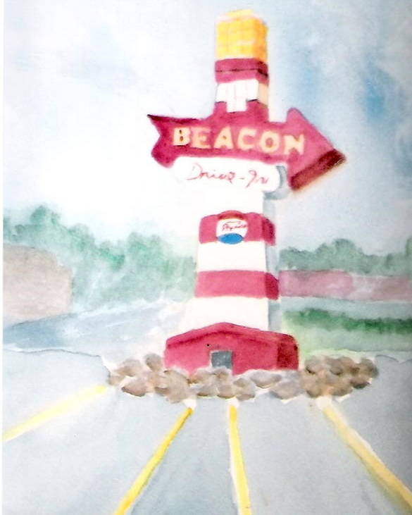 The Beacon Poster featuring the painting The Beacon by Felix Turner