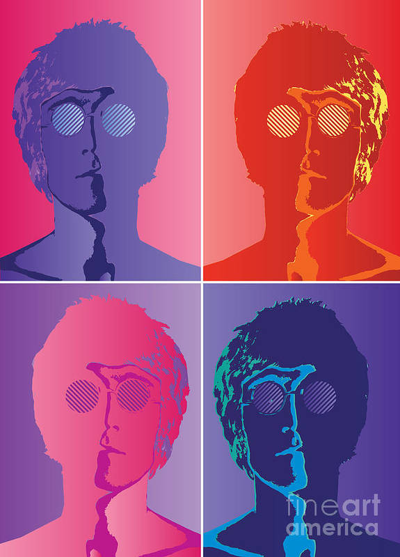 Artwork Poster featuring the digital art The Beatles No.10 by Fine Artist