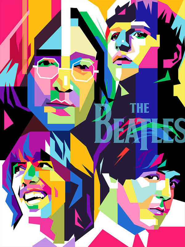 The Beatles On Wpap Poster By Ahmad Nusyirwan