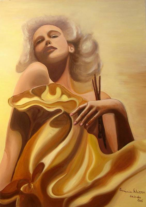 Figurative Poster featuring the painting The Beauty And The Elegance by Erminia Schirru