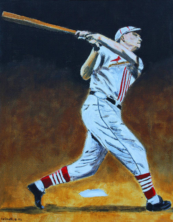 Baseball Poster featuring the painting The Big Cat by Ralph LeCompte