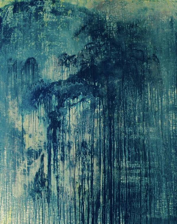 Original Painting By Rick Triest 200x250 Poster featuring the painting The Big, The Rain, Retro by Rick Triest