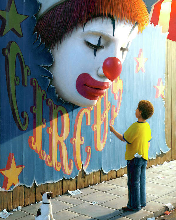 Clown Poster featuring the painting The Big Top by Brian McCarthy