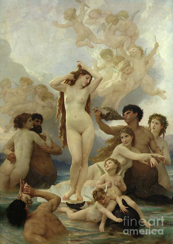 The Poster featuring the painting The Birth Of Venus by William-Adolphe Bouguereau