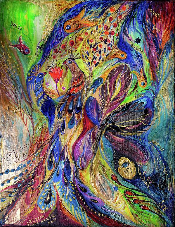 Original Poster featuring the painting The Black Iris by Elena Kotliarker