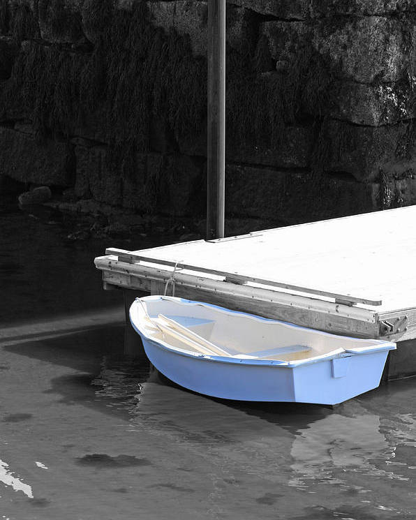 Boat Poster featuring the photograph The Blue Boat by Becca Brann