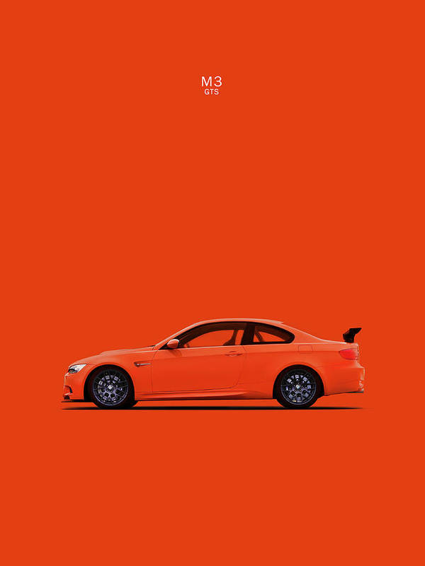 The Bmw M3 Gts Poster By Mark Rogan
