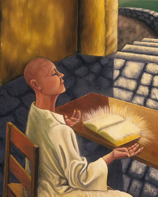 Figurative Poster featuring the painting The Book Of Knowledge by Gloria Cigolini-DePietro