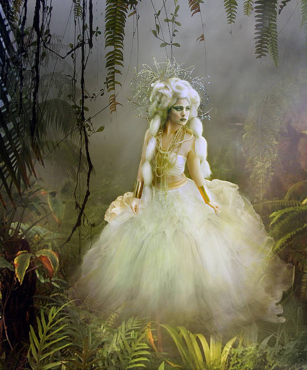 Nature Poster featuring the digital art The Bride by Mary Hood