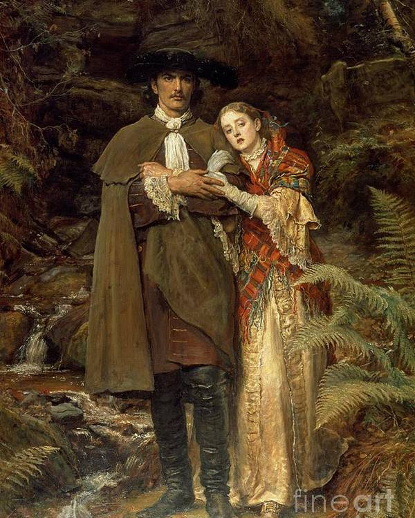 The Poster featuring the painting The Bride Of Lammermoor by Sir John Everett Millais