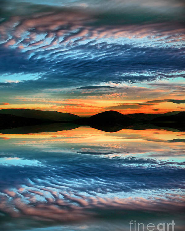 Sunset Poster featuring the photograph The Brush Strokes Of Evening by Tara Turner
