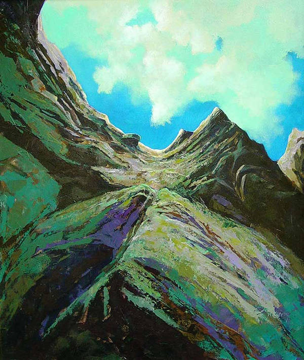 Landscape Poster featuring the painting The Climb by Dale Witherow