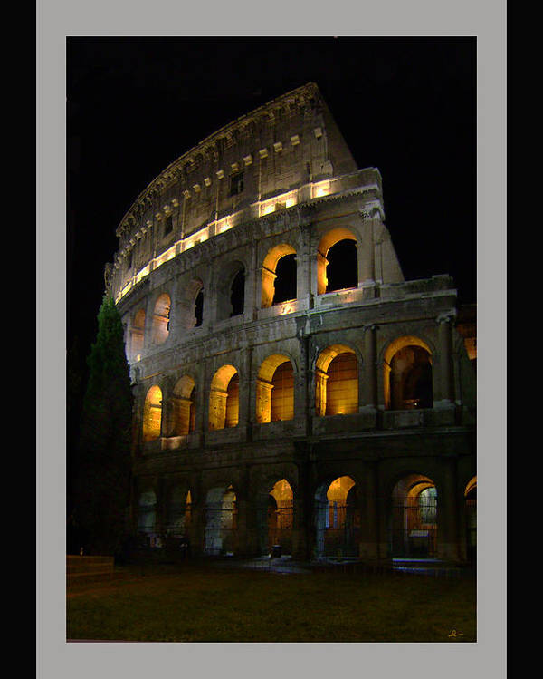 Colosseum Poster featuring the photograph The Colosseum by Lynn Andrews