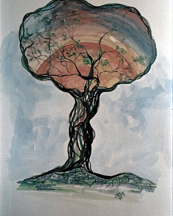 Tree Poster featuring the painting The Coming Of Spring by Roy Woods