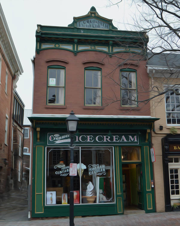 What's The Scoop? Poster featuring the photograph The Creamery by Christopher Kerby