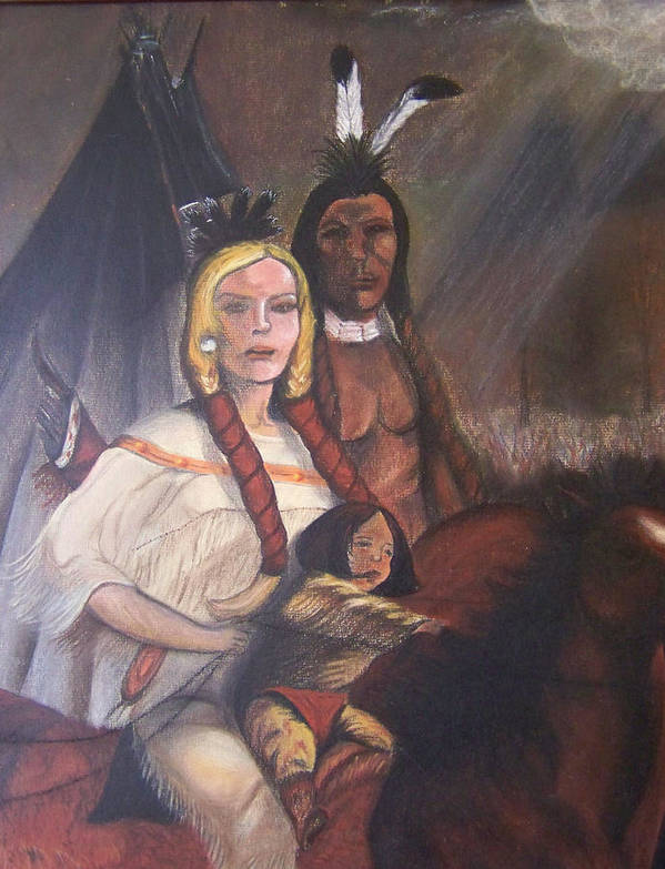 Artwork Poster featuring the painting The Cynthia Ann Parker Family by Laurie Kidd