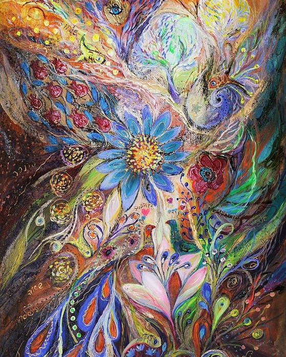 Judaica Poster featuring the painting The Dance Of Light by Elena Kotliarker