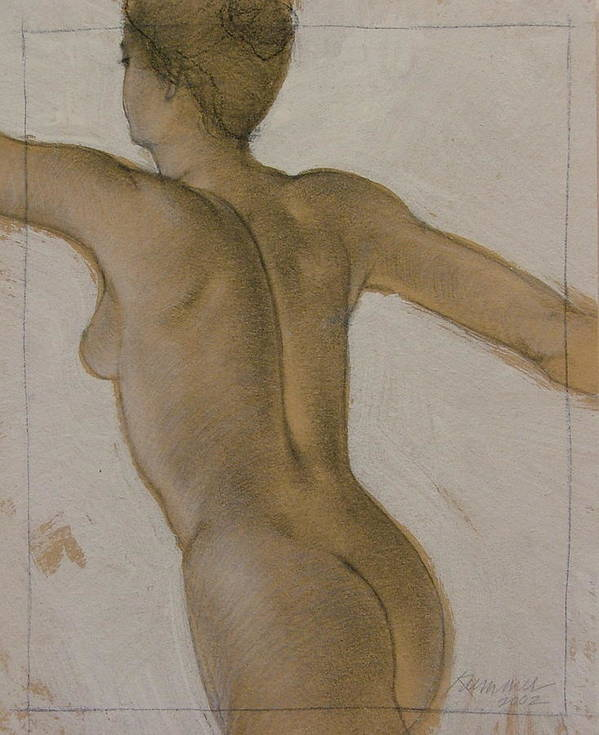 Female Figure Poster featuring the painting The Dancer by Gary Kaemmer