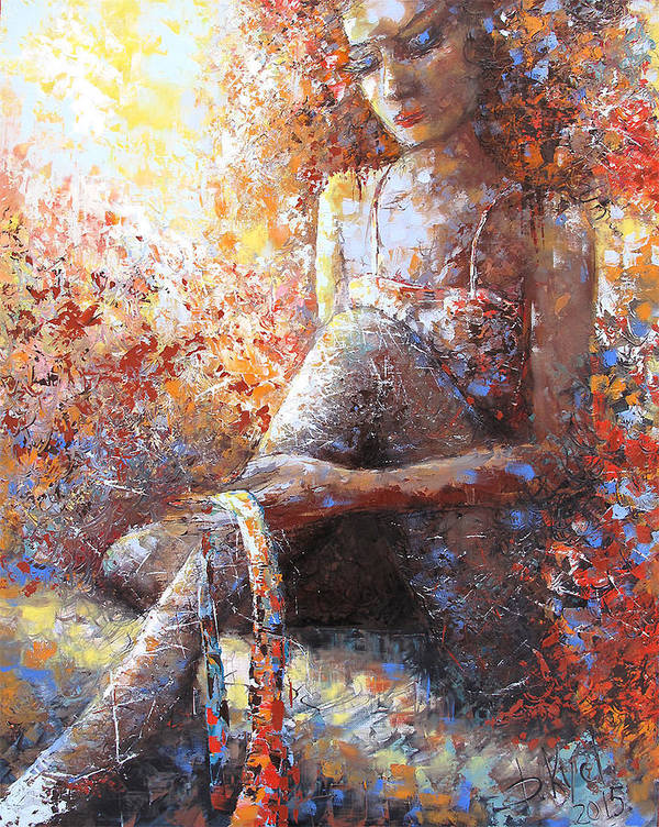 Artwork For Sale Poster featuring the painting The Dancer In Ardent by Dmitry Kustanovich